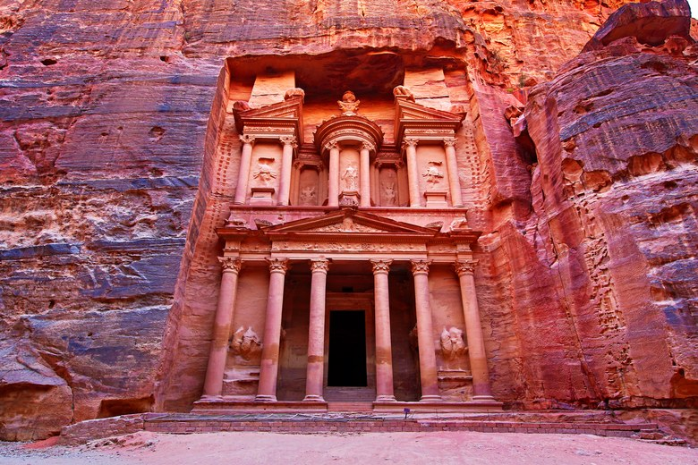 The Treasury, Al-Khazneh, Petra, Jordan
